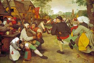 Dancing Farmers, about 1568 by Pieter Bruegel the Elder