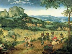 Haymaking, Possibly the Months of June and July, 1565 by Pieter Bruegel the Elder