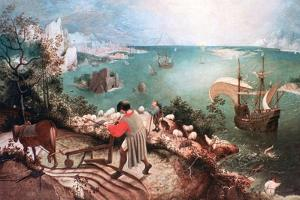 Landscape with the Fall of Icarus, C1555 by Pieter Bruegel the Elder