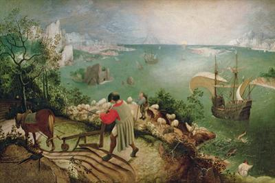Landscape with the Fall of Icarus, circa 1555 by Pieter Bruegel the Elder
