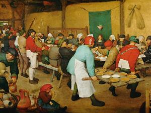 Peasant Wedding (Bauernhochzeit), 1568 by Pieter Bruegel the Elder