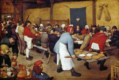 Rustic Wedding, about 1568 by Pieter Bruegel the Elder