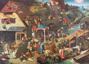 The Dutch Proverbs by Pieter Bruegel the Elder
