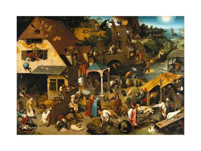 The Netherlandish Proverbs (The Blue Cloak or the Topsy Turvy World), 1559