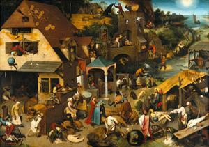 The Netherlandish Proverbs (The Blue Cloak or the Topsy Turvy World), 1559 by Pieter Bruegel the Elder