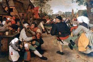 The Peasant Dance, 1568-1569 by Pieter Bruegel the Elder
