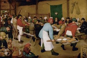 The Peasant Wedding, Ca 1568 by Pieter Bruegel the Elder