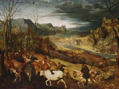 The Return of the Herd. (From: the Seasons), 1565 by Pieter Bruegel the Elder