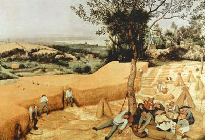 Pieter Bruegel The Grain Harvest Art Print Poster