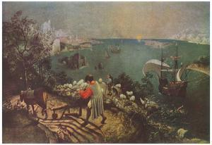 Pieter Brueghel (Landscape with the Fall of Icarus) Art Poster Print