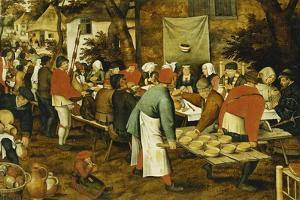 A Peasant Wedding Feast, 1630 by Pieter Brueghel the Younger