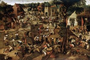 Fair with a Theatrical Performance, C1580-1630 by Pieter Brueghel the Younger