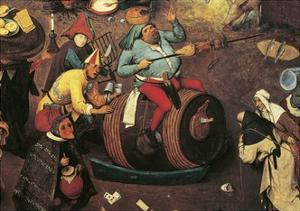 Fight Between Carnival and Lent by Pieter Brueghel the Younger