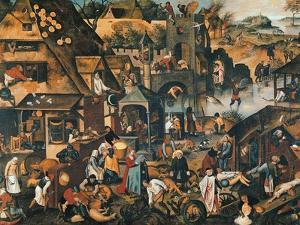 Flemish Proverbs by Pieter Brueghel the Younger