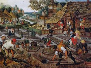 Gardening, C.1637-38 by Pieter Brueghel the Younger