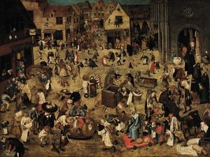 The Combat Between Carnival and Lent, C. 1560 by Pieter Brueghel the Younger