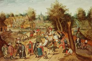 The Return from the Kermesse by Pieter Brueghel the Younger