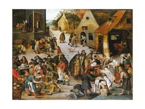 The Village Market by Pieter Brueghel the Younger