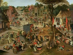 Village Festival in Honour of St. Hubert and St. Anthony, 1632 by Pieter Brueghel the Younger