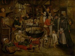 Visit to the Peasants, First Third of 17th C by Pieter Brueghel the Younger