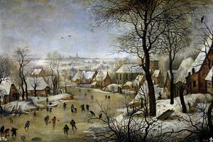 Winter Landscape with a Bird Trap, Ca. 1601 by Pieter Brueghel the Younger
