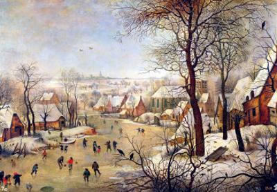 Winter Landscape with Bird Trap by Pieter Brueghel the Younger