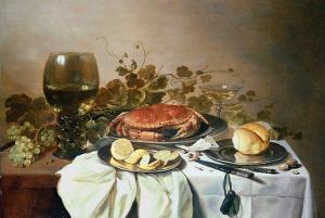 Breakfast Still Life with Roemer and a Crab by Pieter Claesz