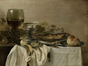 Still Life with a Fish by Pieter Claesz