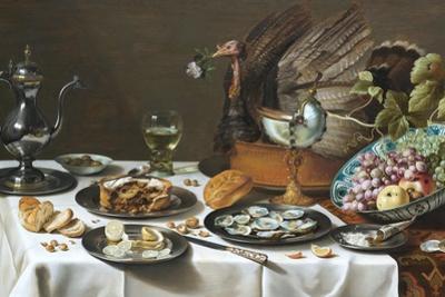 Still Life with Turkey Pie by Pieter Claesz