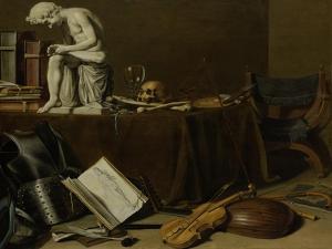 Vanitas Still Life with the Spinario by Pieter Claesz