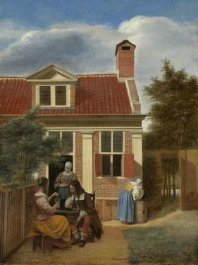 A Company in the Courtyard Behind a House, 1663-1665 by Pieter de Hooch
