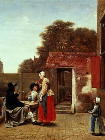 A Dutch Courtyard, 1658-1660