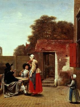 A Dutch Courtyard, 1658-1660 by Pieter de Hooch