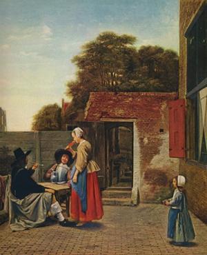 'A Dutch Courtyard', 1658-1660 by Pieter De Hooch