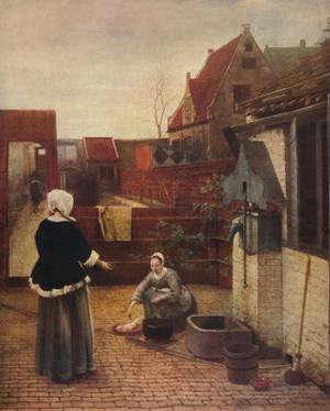 'A Dutch Courtyard', c1658, (1911) by Pieter De Hooch