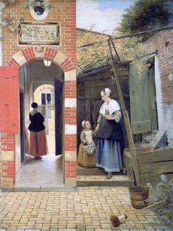 Courtyard of a House in Delft, 1658
