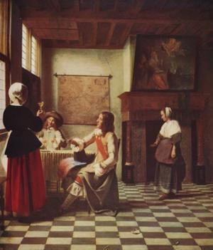 'Interior of a Dutch House', c1658, (c1915) by Pieter De Hooch