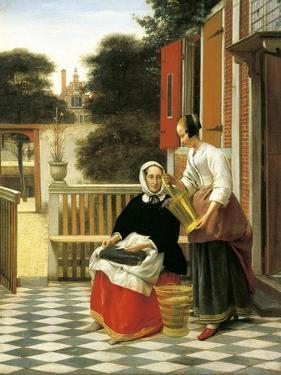 Mistress and Maid by Pieter de Hooch