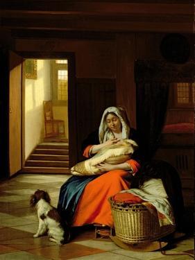 Mother Nursing Her Child, 1674-76 by Pieter de Hooch