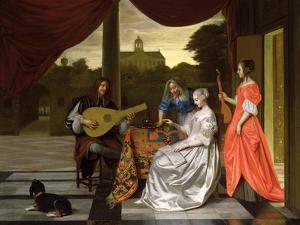 Musical Scene in Amsterdam by Pieter de Hooch