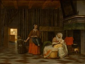 Woman and Child with Serving Maid, 1663-1665 by Pieter de Hooch