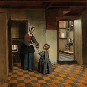 Woman with a Child in a Pantry, c.1656-60 by Pieter de Hooch