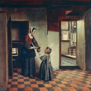 Woman with a Child in a Pantry, C1660 by Pieter de Hooch