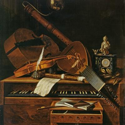 Still Life with Musical Instruments by Pieter Gerritsz. van Roestraten