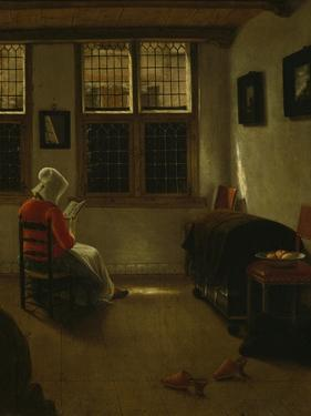 Woman Reading by Pieter Janssens Elinga