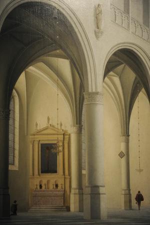 Pieter Jansz. Saenredam (1597-1665). Dutch Painter. Saint-Laurens Church in Alkmaar