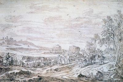 Landscape with Reapers, C1615-1661