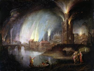 Lot and His Daughters Fleeing Sodom