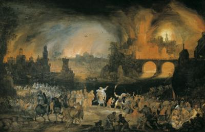 The Burning of Troy (Der Brand Trojas)