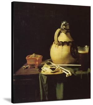 Still life with Pitcher and Beer Glass by Pieter van Anraadt